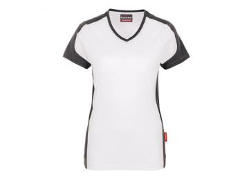 Damen-V-Shirt-Contrast Performance Hakro 190